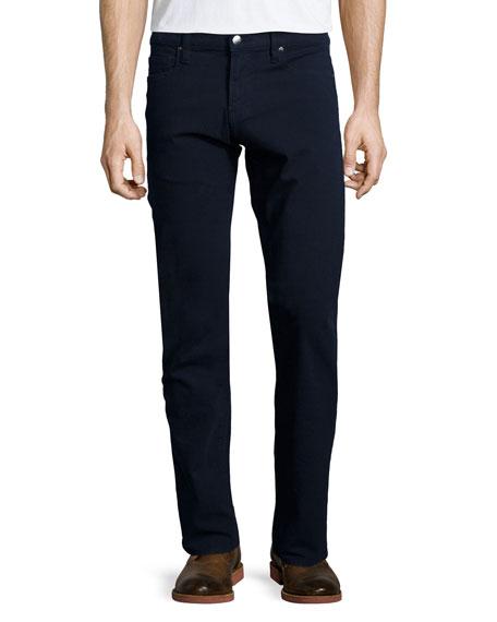 FRAME DENIM L'Homme Straight-Leg Twill Jeans, Navy