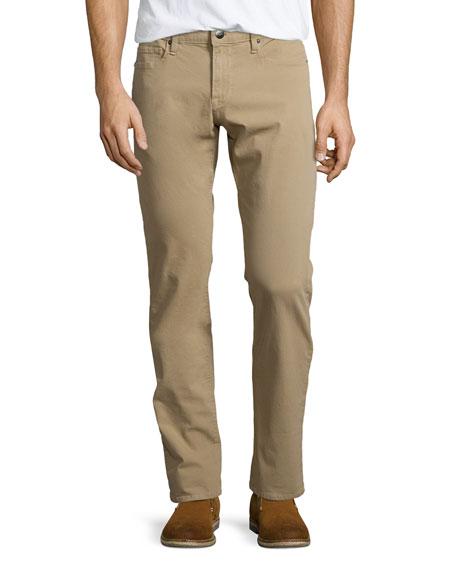 FRAME DENIM L'Homme Straight-Leg Twill Jeans, Khaki
