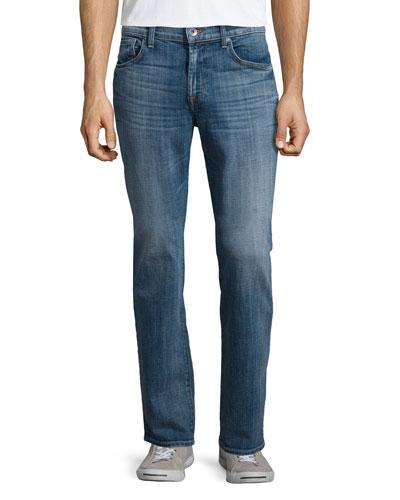 Vintage 7: Standard-Fit Denim Jeans, Indigo