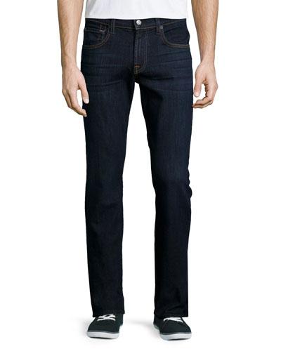 Luxe Performance: Park Straight-Leg Jeans, Indigo