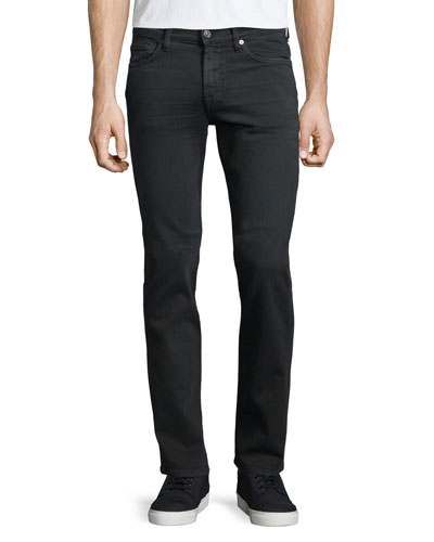 Luxe Performance: Slimmy Denim Jeans, Dark Gray