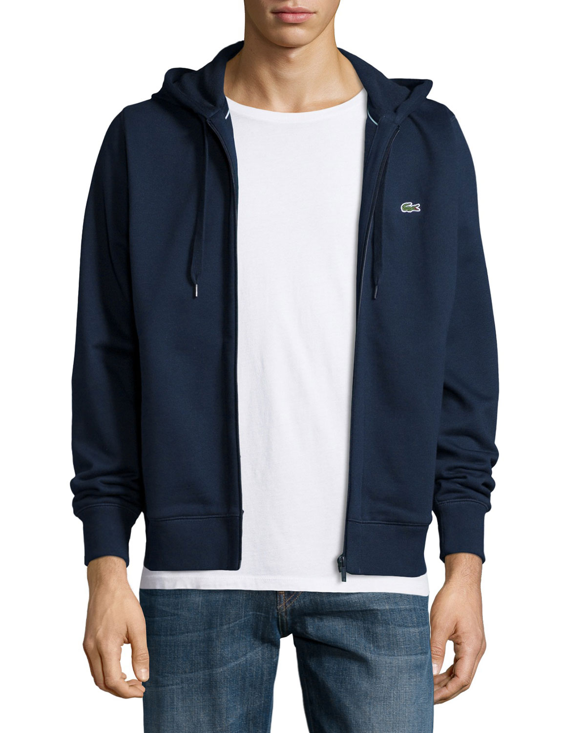955c09be3f9c2 lacoste Full-Zip Fleece Hoodie
