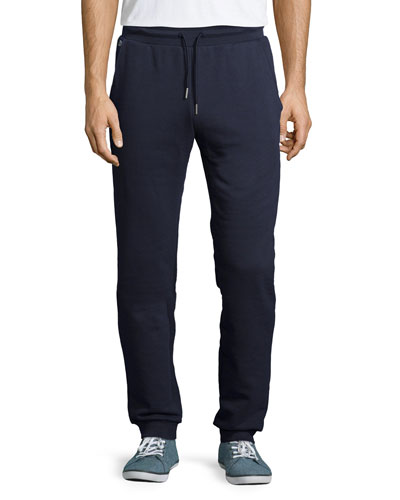 Fleece Drawstring Sweatpants, Navy