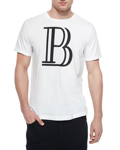 Large-B Logo Graphic Tee, White