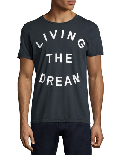 Living The Dream Graphic Tee, White