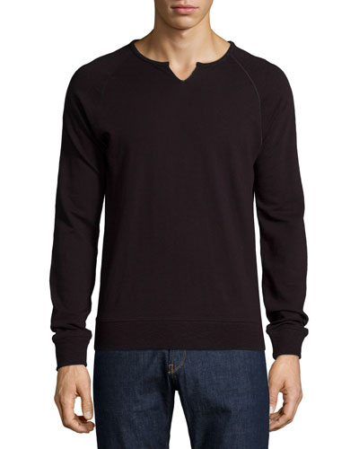 Solid Raglan Sweatshirt, Gray