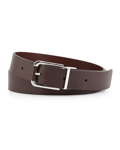 Twisted Reversible Belt, Brown