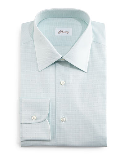 Tonal Textured Dress Shirt, Mint