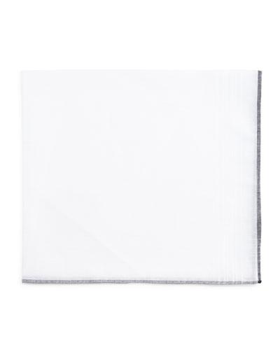 Solid Silk Pocket Square, White
