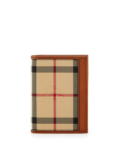 Elton Horseferry Check Wallet, Beige