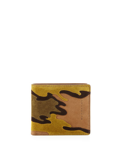 Camouflage Suede Bi-Fold Wallet
