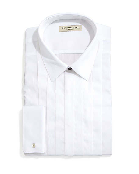Burberry Eve Slim-Fit Tuxedo Shirt with Pleated Bib,