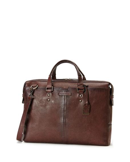 Ben Artisan Leather Briefcase, Dark Brown