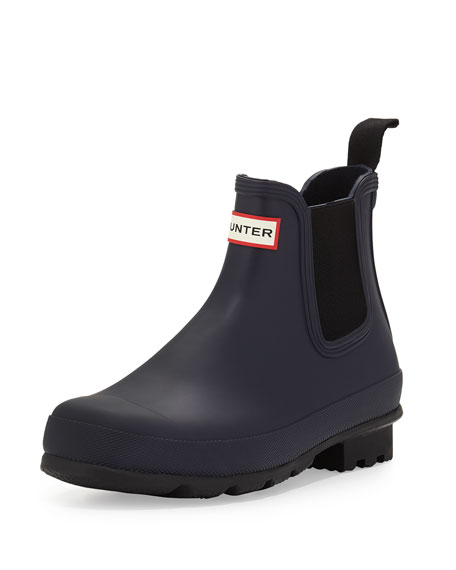 Hunter Boot Dark-Sole Chelsea Boot, Dark Blue