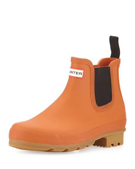 Hunter Boot Original Gum-Sole Chelsea Boot, Orange