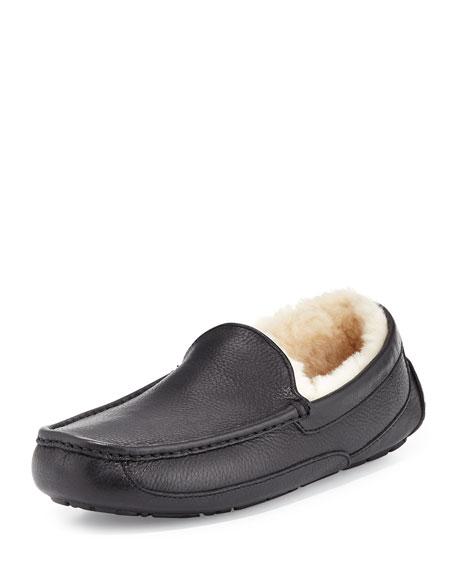 UGG Ascot Leather Slipper, Black