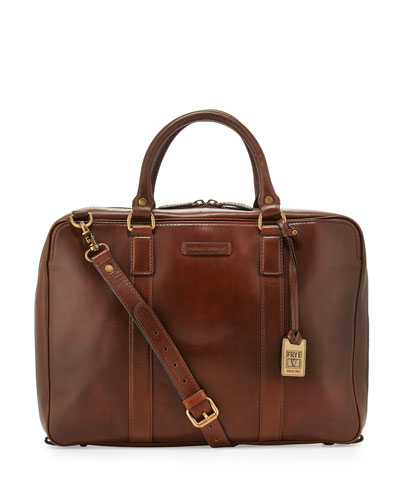 David Leather Briefcase, Dark Brown