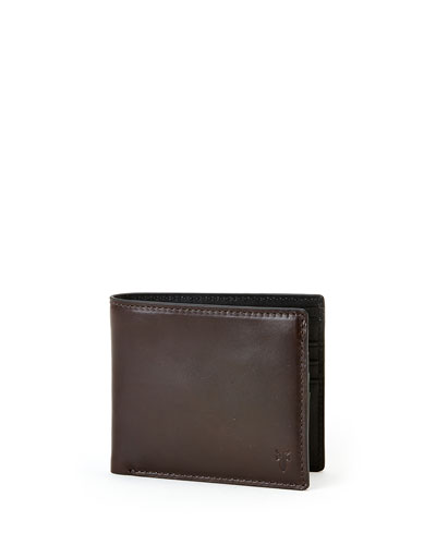 David Leather Bi-Fold Wallet, Brown