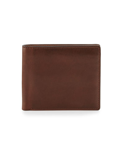 David Double Bi-Fold Wallet, Dark Brown