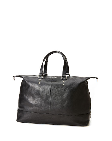 Ben Artisan Leather Duffel Bag, Black