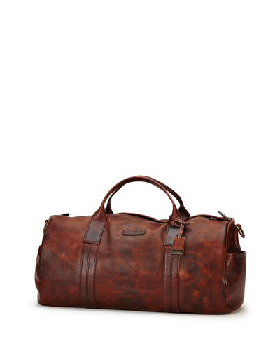 Tyler Leather Duffel Bag, Dark Brown