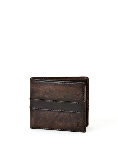 Oliver Leather Bi-Fold Wallet, Gray