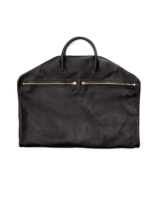 TOM FORD Buckley Soft Leather Garment Bag, Black   Neiman Marcus cb0dfadf73