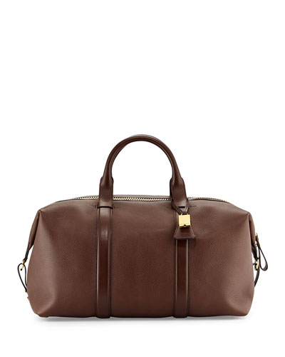 Buckley Large Leather Duffle Bag, Brown