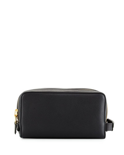 Double-Zip Toiletry Bag, Black