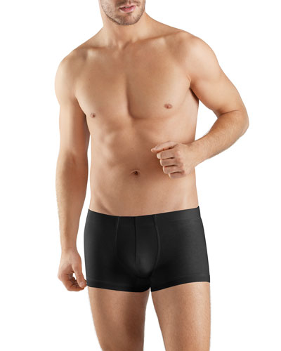 Sea Island Cotton Boxer Briefs, Black