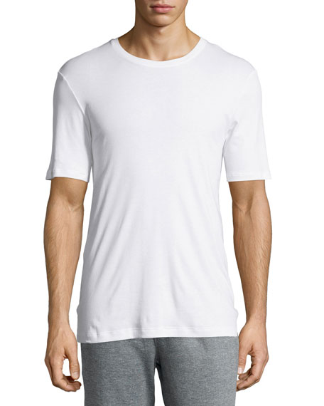Sea Island Cotton Crewneck T-Shirt, White