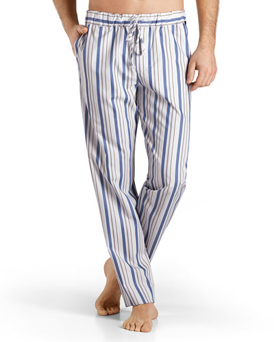 Alphonse Striped Lounge Pants, Blue