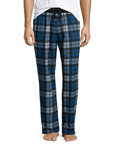 Jay Plaid Lounge Pants, Blue