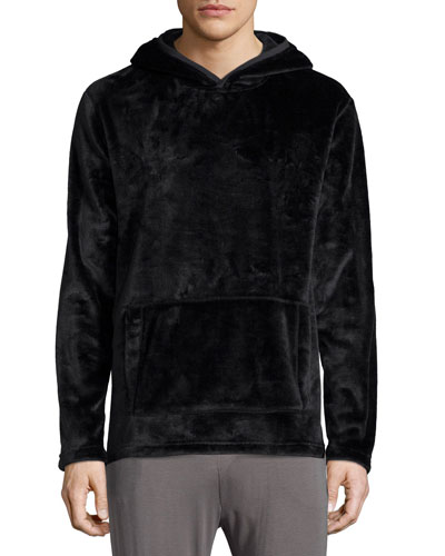 Shiny Hooded Sweatshirt, Black