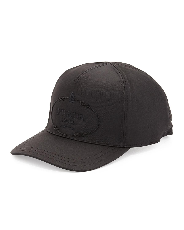 Prada Nylon Logo Baseball Cap 658d8ea11ff