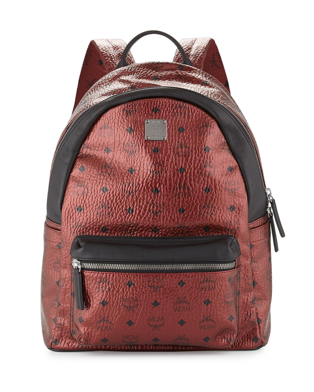 898db6abc8ed MCM Stark No Stud Coated Canvas Medium Backpack