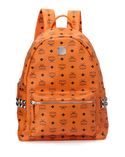 Medium Canvas Backpack, Orange