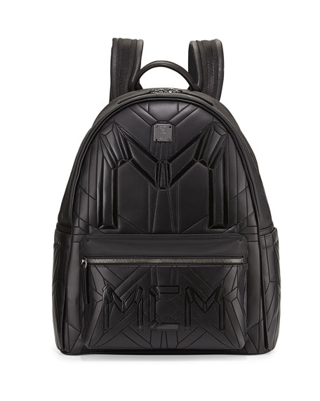 MCM Bionic Coated Neoprene Medium Backpack, Black