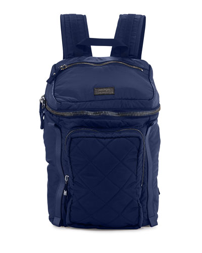 Small Quilted Nylon Backpack
