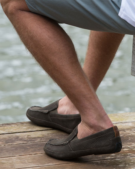 Olukai Akepa Moc Leather Loafer, Seal Brown