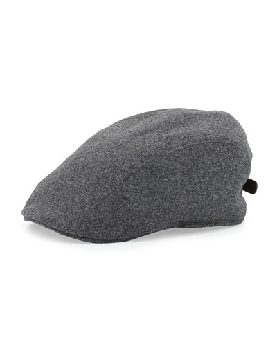 Wool Newsboy Cap, Gray