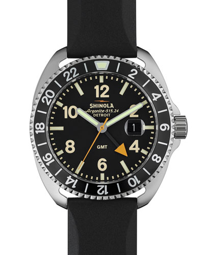 44mm Rambler GMT Watch, Black