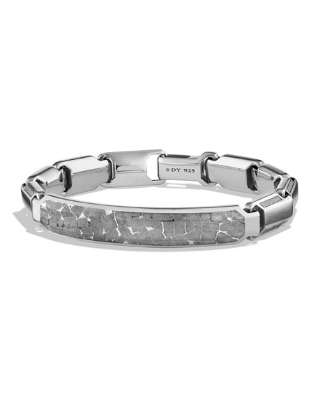 David Yurman Men's Cable ID Bracelet with Meteorite