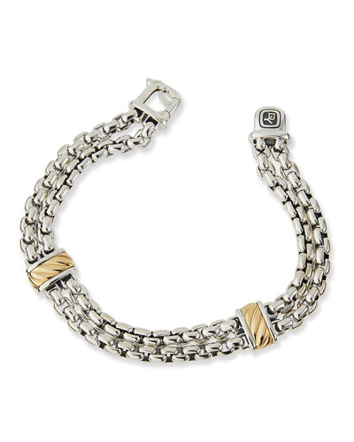Double-Chain Bracelet with 18k Gold