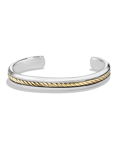 Men's Cable Inset Cuff Bracelet