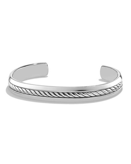 Cable Inset Cuff Bracelet