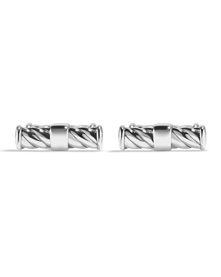 Classic Cable Cuff Links, Sterling Silver