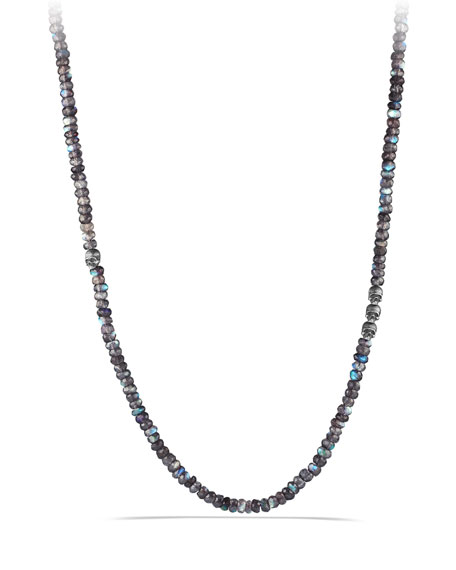 David Yurman Spinel Beads Necklace with Skull Station