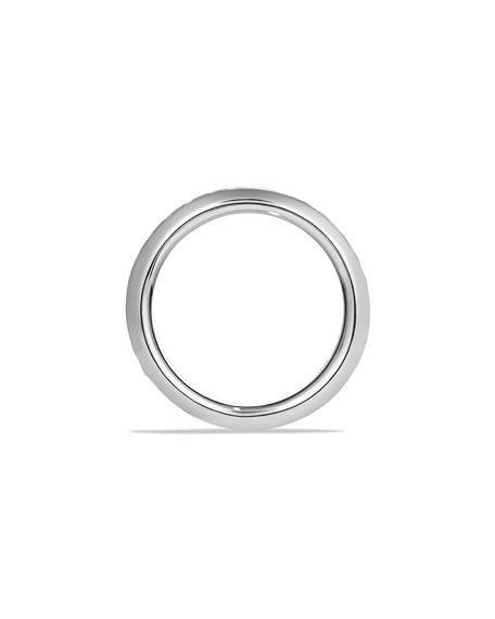 Men's Classic Chevron Inset Band Ring