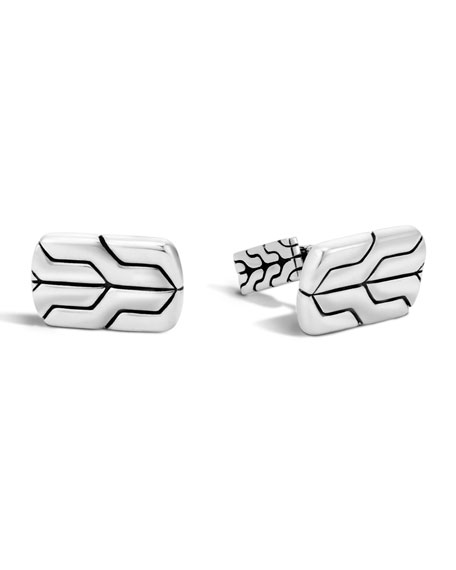 John Hardy Silver Chain Cuff Links